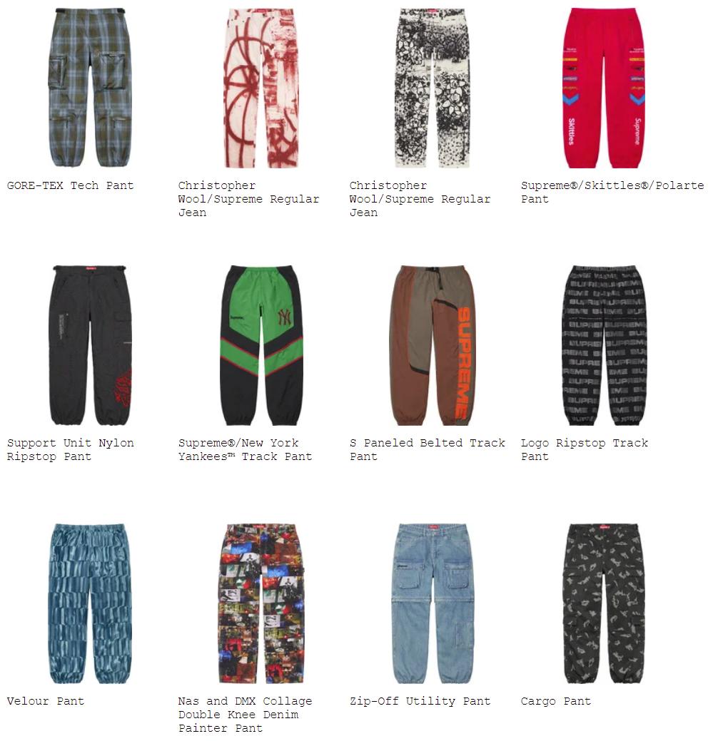 supreme-21aw-21fw-fall-winter-pants