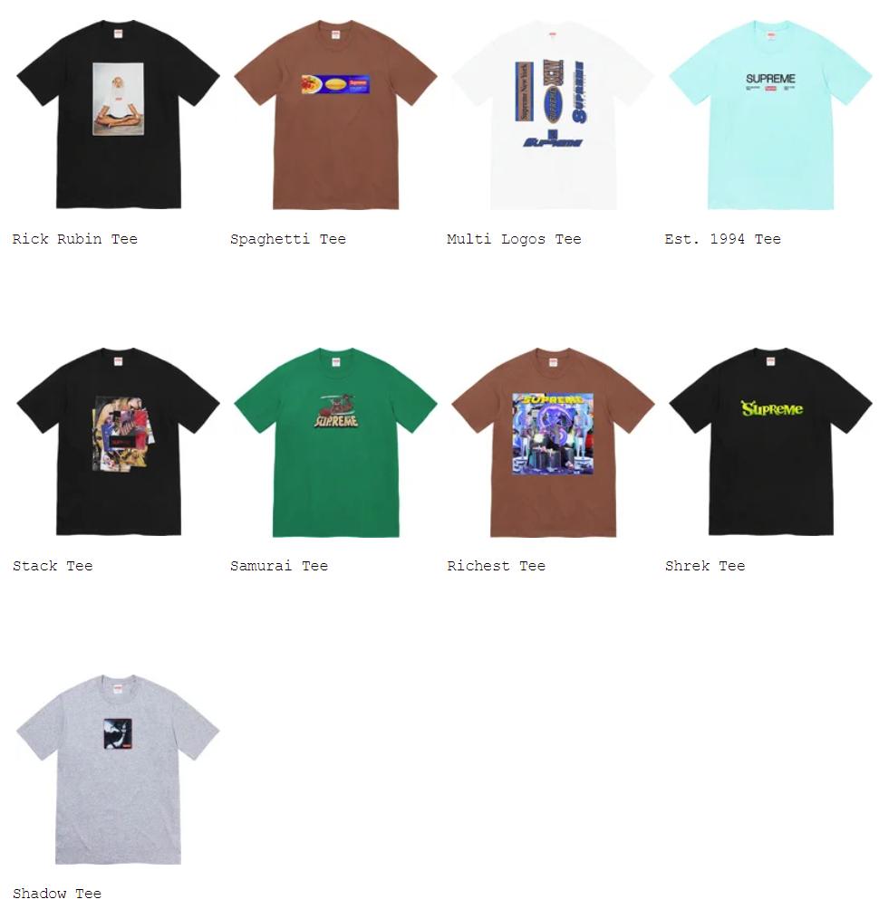 supreme-21aw-21fw-fall-winter-t-shirts