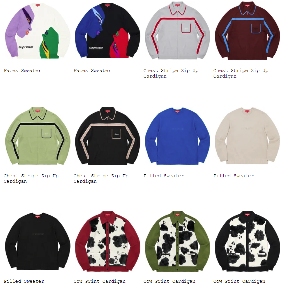 supreme-21aw-21fw-fall-winter-tops-sweaters