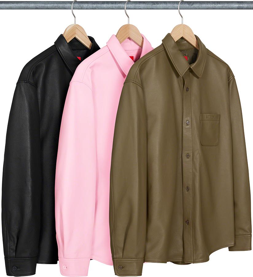 supreme-21aw-21fw-leather-shirt