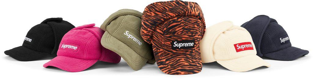 supreme-21aw-21fw-polartec-earflap-camp-cap