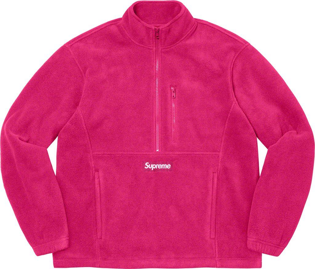 supreme-21aw-21fw-polartec-half-zip-pullover