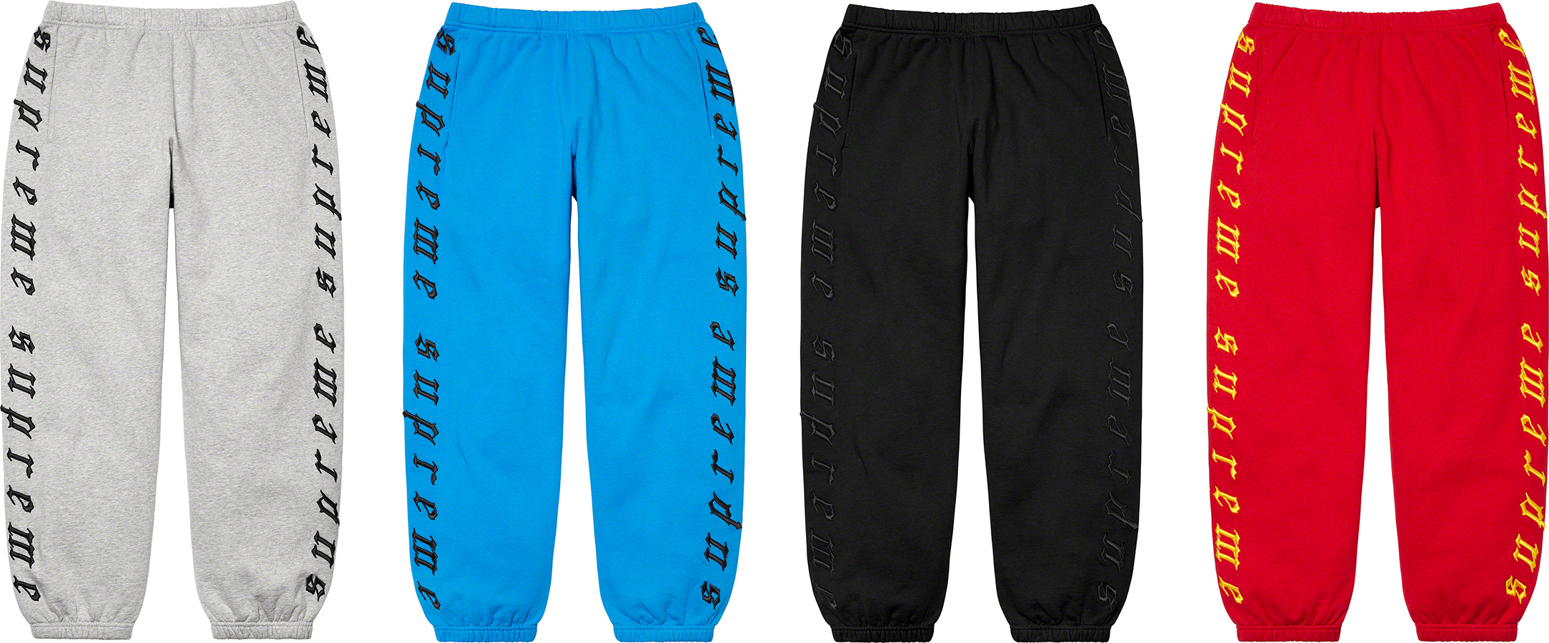 supreme-21aw-21fw-raised-embroidery-sweatpant