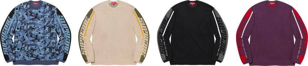 supreme-21aw-21fw-sleeve-stripe-sweater
