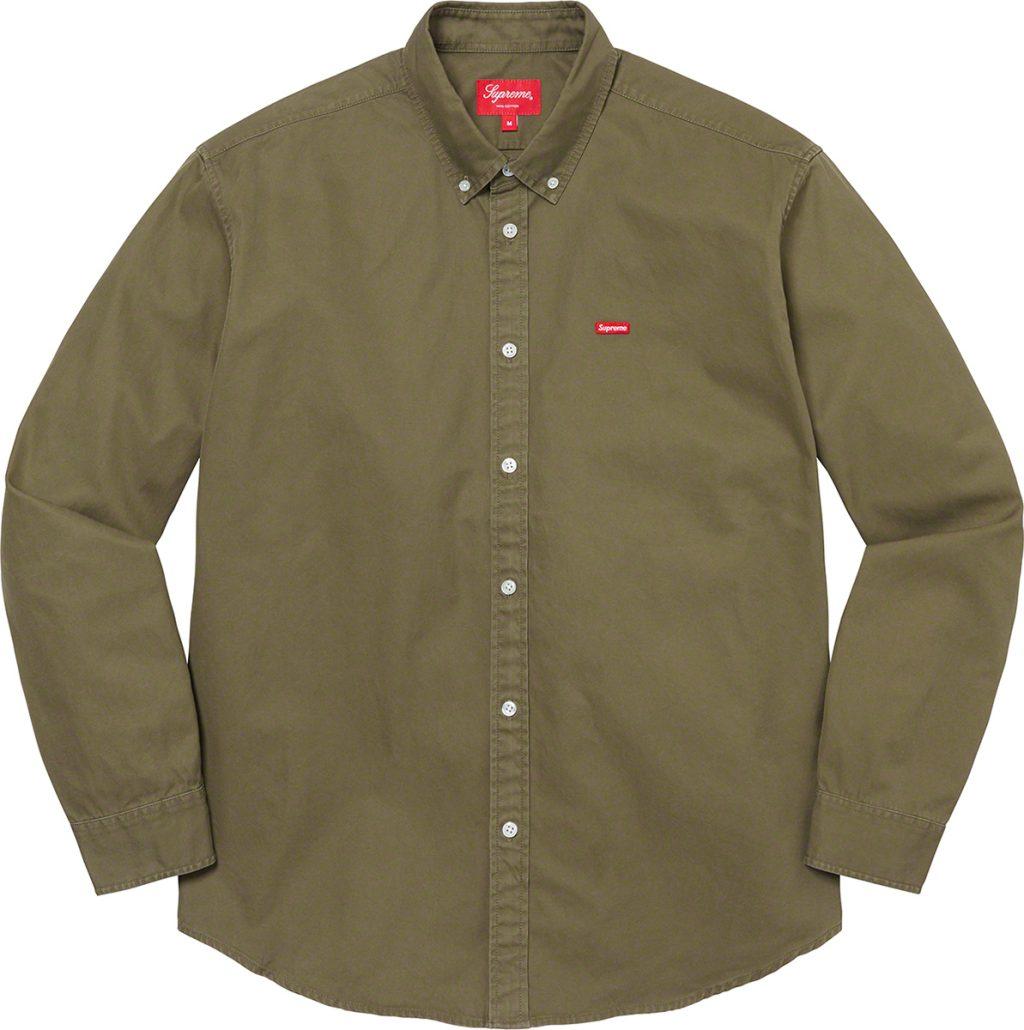 supreme-21aw-21fw-small-box-twill-shirt
