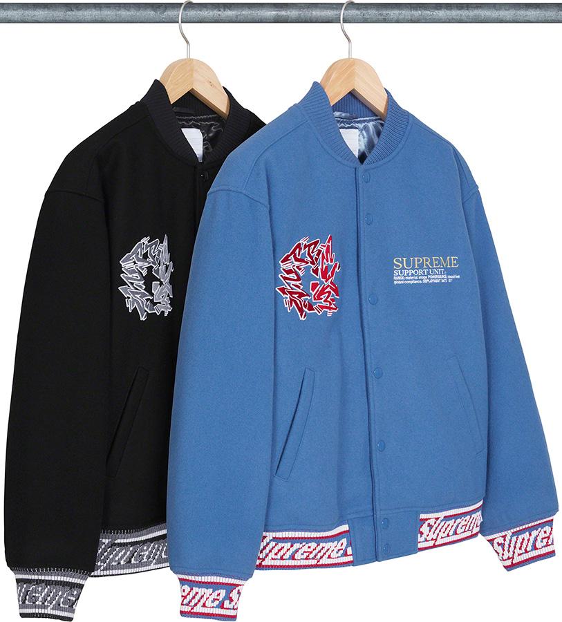 supreme-21aw-21fw-support-unit-varsity-jacket