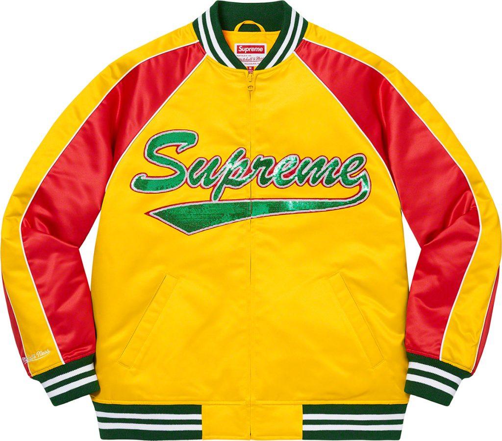 supreme-21aw-21fw-supreme-mitchell-ness-sequin-logo-varsity-jacket