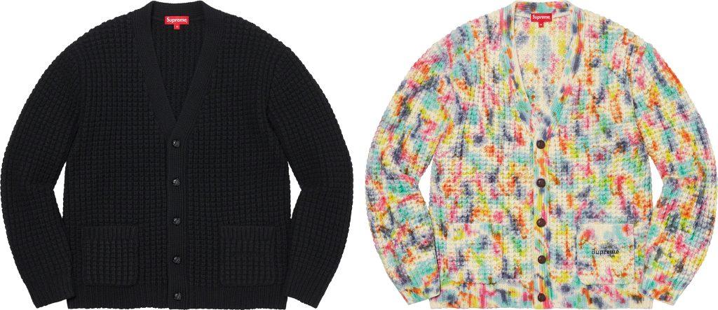 supreme-21aw-21fw-waffle-knit-cardigan