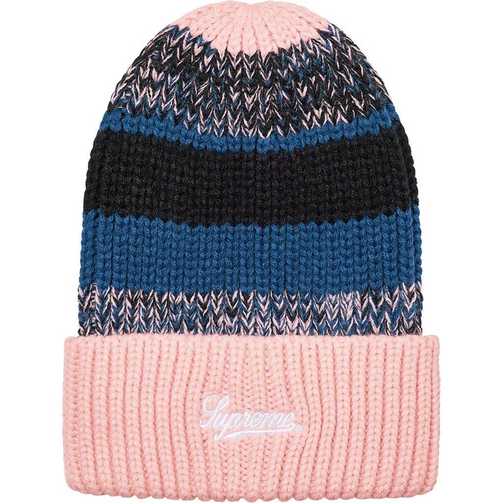 supreme-21aw-21fw-mixed-stripe-beanie