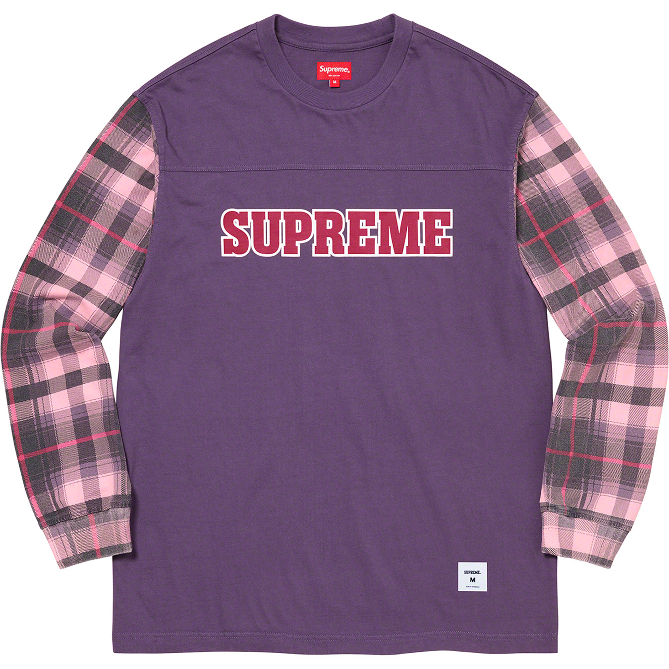 supreme-21aw-21fw-plaid-sleeve-l-s-top