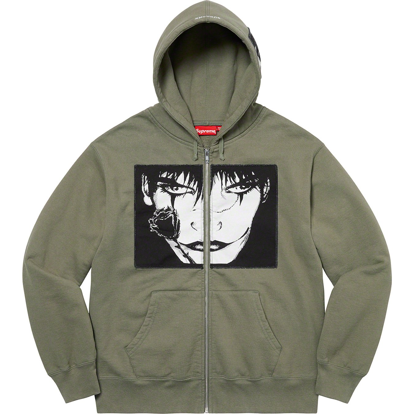 supreme-the-crow-21aw-21fw-collaboration-release-20210918-week4-zip-up-hooded-sweatshirt