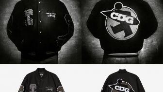 STUSSY × COMME des GARCONS 40周年記念コラボジャケットが1/15に国内発売予定